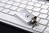 USB-Blitz-Antrieb, 3 in1 Feder-Antrieb External Gedächtnis Expansion für iPhone iPad IOS Android und PC (32GB, Silver)