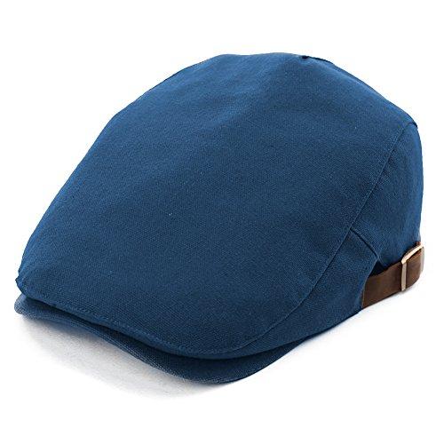 SIGGI Herren Schirmmütze Flatcaps Schiebermütze 57-59CM Sommer Blau