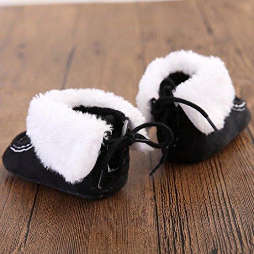 Winterstiefel Baby Weiche Krippe Schuhe Sohle Schwarz Schneestiefel Bzline® nS6dqwxYY