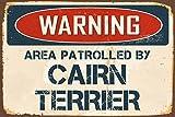 Zhaoshoping Metall Schild Post Warnung Bereich 'von Nadia Cairn Terrier Metall Aluminium Wand Sicherheit Schild