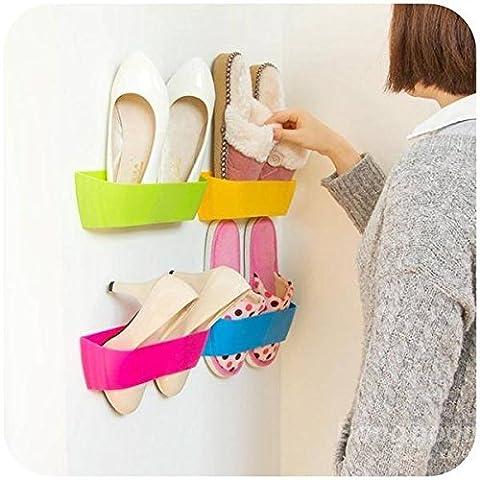 Pâte mark8shop DIY 3D Super colle hanging-shoe Étagère murale Boîte de rangement de bureau