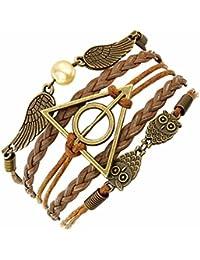 El Regalo's Harry Potter Deathly Hallows Snitch Owl Fashion Bracelet