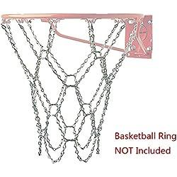 Paxcoo Red de baloncesto de acero (12 aretes)