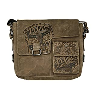 JACK'S INN 54 Tasche: Snakebite - Schultertasche braun Vintage Leder exclusives Design