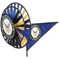 Premier cometas y diseños Triple centrifugador de viento fuerzas armadas–azul marino