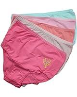 5er Set Damen Slips Damenslips Taillenslip in Große Größen Unterhosen aus Baumwolle