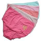 5er Set Damen Slips Damenslips Taillenslip in Große Größen Unterhosen aus Baumwolle, Farbe: Farbmix 1 / Bunt, Größe: 42