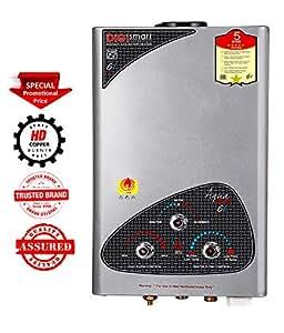 DIGISMART Aqua Gold LPG Instant Gas Water Heater with 100% Copper Tank Silver Metallic