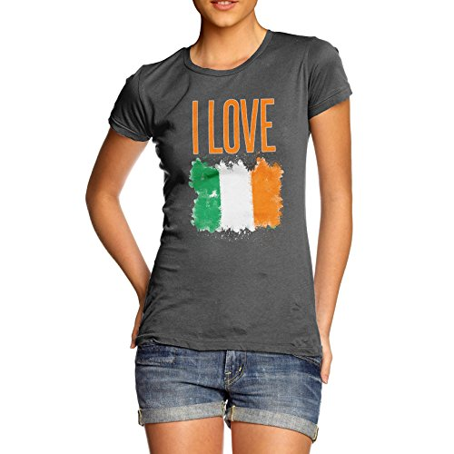 Damen I Love Ireland T-Shirt Dunkelgrau