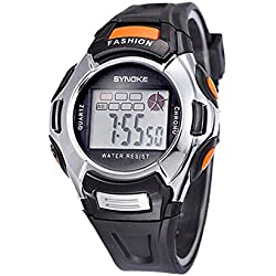 Silvercell Child Sports Multifunction Waterproof Electronic Wrist Watch Black