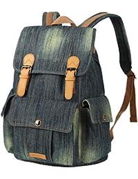 ea0eeb2d2bd Vbiger Moda Mochila de Lona con diseño Casual para Mujer Bolsa de Viaje  Mochila de a