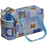 Annapurna Sales Baby Diaper Bag With Bottle Warmers Or Nappy Changing Bag With 2 Bottle Warmers - Blue (Unisex)