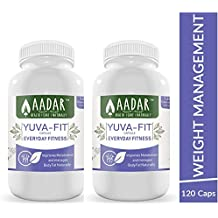 AADAR Herbals Yuva Fit Natural Weight Management and Fitness Capsules with Garcinia and Triphala (2 Pack Each of 120)