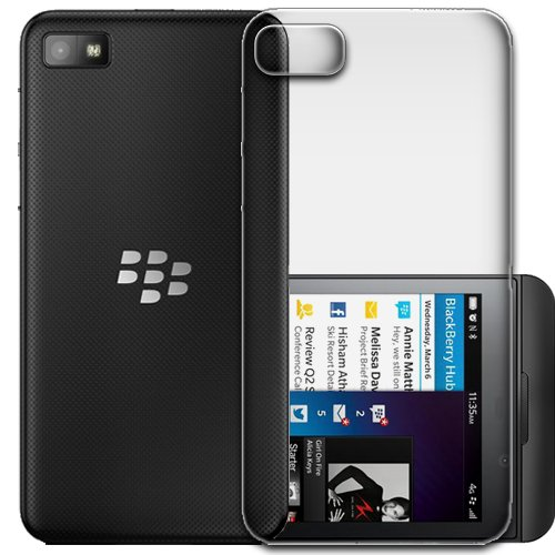 ECellStreet Exclusive Transparent Crystal Clear Case TPU Soft Back Case Cover Back Cover for Blackberry Z10  available at amazon for Rs.248
