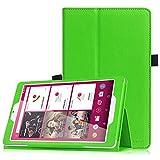 Telekom Tablet Puls Hülle - Fintie Premium Kunstleder Folio Schutzhülle Tasche Etui mit Standfunktion für Telekom Puls 8 Zoll Tablet, Grün