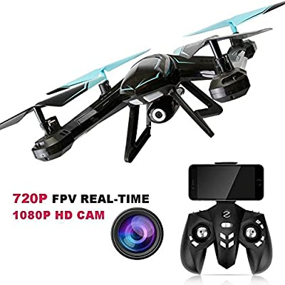 TOYEN TG-AG01 RC Drone 2.4GHz FPV WiFi Remote Control Quadcopter with 720P HD 2MP Camera