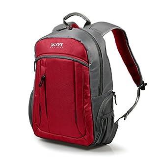"51bfUD46QIL. SS324  - Port Designs VALMOREL Mochila Nylon, Poliéster Rojo - Mochila para portátiles y netbooks (Nylon, Poliéster, Rojo, 39,6 cm (15.6""), Cremallera, 820 g, 385 x 260 x 35 mm)"