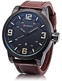 Top Luxury Brand Curren Watch Correa de cuero para hombres Casual militar  reloj de pulsera de cd0d447e04f8