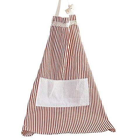yuhebaby coton motif rayé tablier avec poche avant pour cuisine
