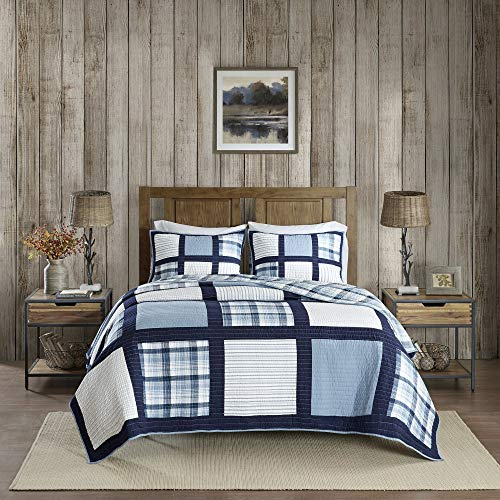 Woolrich Quilt Mini Set, Blue, Full/Queen