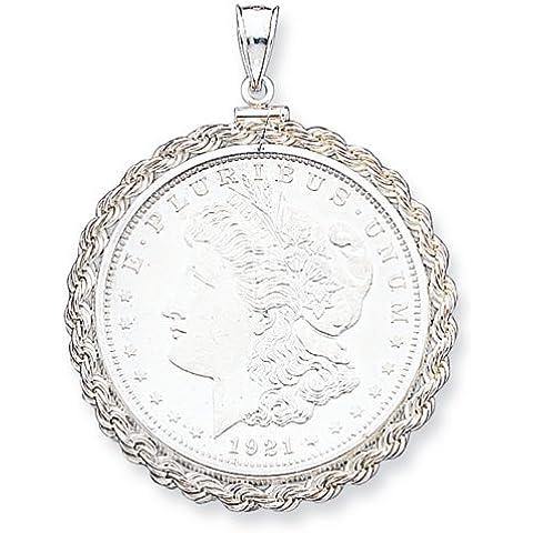 Icecarats Designer Di Gioielli In Argento Sterling 38,2 X 2,8 Millimetri Corda Pendente Lunetta
