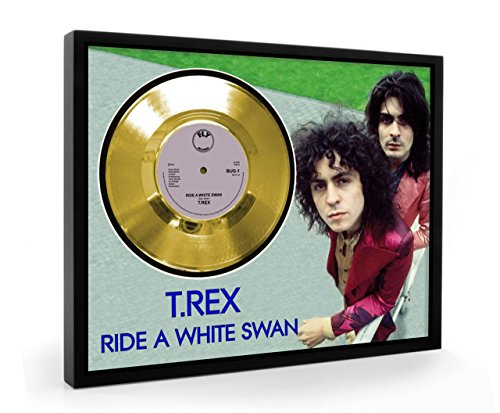 T Rex Ride A White Swan Framed Gold Disc Display Vinyl for sale  Delivered anywhere in UK