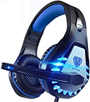 Pacrate Gaming Headset for Xbox One, PS4, PS5, PC, Mac, Laptop with Noise Cancelling Mic - Surround Gaming Hea