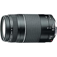Canon 75-300 mm f/4-5.6 III - Objetivo para Canon (zoom óptico 4x,diámetro: 58mm), color negro [Versión española]