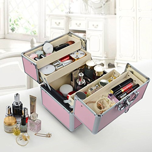 MMM Multi-usages Accueil Medicine Chest Grande boîte médicale First Aid Kit Aluminum Out Of The Box Drug Storage Box ( Couleur : Rose )