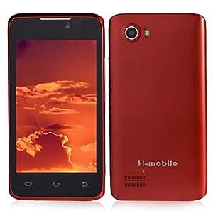 H-mobile F2 Dual Core 2G GSM Smartphone w/ MTK6572 4.0 Inch 256MB+256MB Dual SIM WiFi - Red