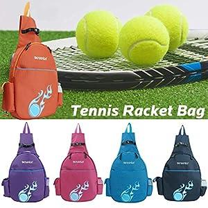 Seasaleshop Tennisschläger Tasche Tennis Rucksack Schläger Tasche Portable Verschluss Schulter Kann Links Nach Rechts Tennis Tasche Badminton Tasche by