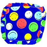 Gurukripa New Born Baby Cotton Soft Fabric Musterd Seeds Rai Pillow For Baby Head Shaping Takiya Detachable Mustard / Rai Seed Pouch For Easy Washing Feeding & Nursing Baby Neck Pillow (Nevy Blue)
