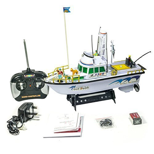 Twin Propeller Remote Control Deep Sea Fishing Boat RC Water Fun Boat