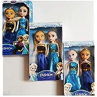 Forever Kidzz Frozen Beautiful 2 Sisters Anna Elsa Doll (Medium, Blue)
