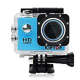 KIPTOP Unterwasserkameras 1.5 Zoll Full HD Sport Kamera 170 ° Weitwinkel Sport kamera mit zubehör