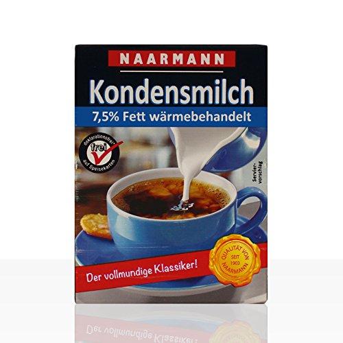 Naarmann Kondensmilch 7,5% Fett, Tetra Pack 20 x 340g - Pack 7.5
