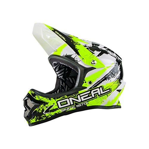 O 'Neal Backflip Fidlock DH Fahrrad Helm RL2Shocker ,Unisex ,Mehrfarbig(Schwarz / neongelb), L (59 - 60 cm)
