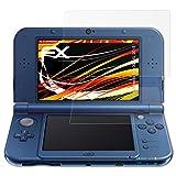 atFoliX Folie für Nintendo New 3DS XL (2015) Displayschutzfolie - 3er Set FX-Antireflex-HD hochauflösende entspiegelnde Schutzfolie