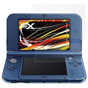 atFoliX Schutzfolie kompatibel mit Nintendo New 3DS XL 2015 Displayschutzfolie, HD-Entspiegelung FX Folie (3er Set)