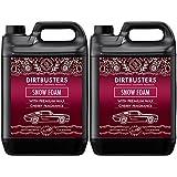 Dirtbusters Champú para coches Snow Snow Foam limpiador con cera de alto brillo y aroma de caramelo de cereza 5L para una limpieza y valetado profesional