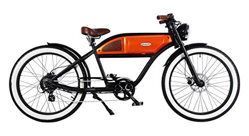 Cruiser vintage Style E-Bike Fahrrad Greaser black-orange -