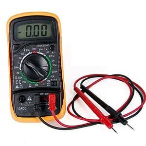 DIGIFLEX Multimètre numérique, voltmètre ampèremètre CA CC ohmmètre connectivité 19 gammes
