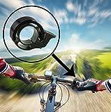 Slim Fahrradklingel Fahrradschelle von Standwert für Trekking-, Mountain- oder Rennrad (Schwarz)