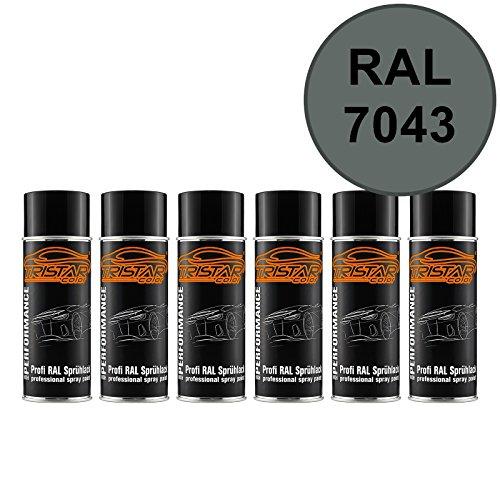 RAL 7043 Verkehrsgrau B Spraydose 6 x 400 ml glänzend schnelltrocknend