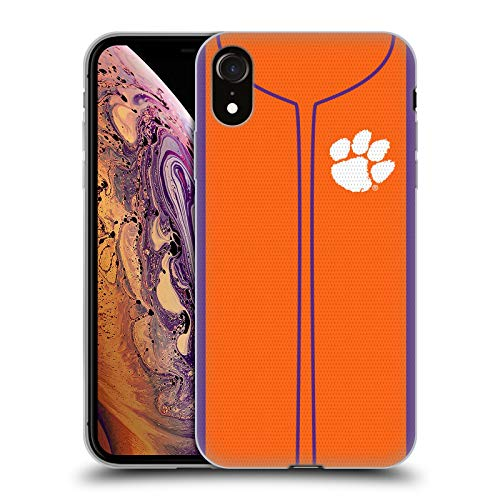 Head Case Designs Offizielle Clemson University Baseball Jersey Soft Gel Huelle kompatibel mit iPhone XR Clemson University Baseball