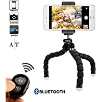 Mini Handy Stativ Flexibel Stativ für iPhone mit Handyhalterung mit Fernbedienung für alle Smartphone wie iPhone 7 Plus, Samsung S7 edge und Kamera