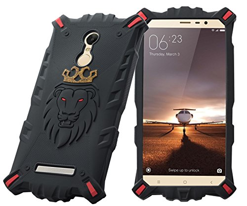 Febelo Royal Looking LION with CROWN HEAD Drop Protection Back Cover for Xiaomi Redmi Note 3 - Feel The Lion (Gold Edition)