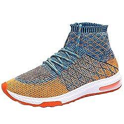 Overmal Männer Weben Leichte Bequeme Socken mit Hohem Absatz Schuhe Herren Sneakers Air Cushion Schuhe Alte Turnschuhe Laufschuhe Wanderschuhe Athletic Outdoor Sports rutschfeste Wanderschuhe