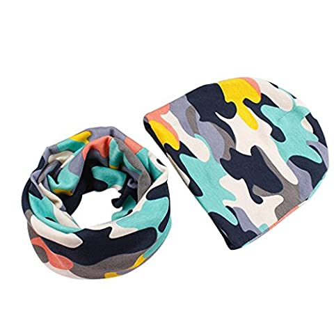 Infant Baby Boy's Girl's Hat Scarf Sets, VENMO Cotton Winter outfits (Camouflage#)