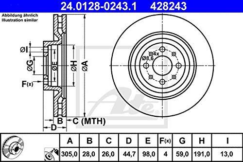 ATE 24.0128-0243.1 - Disco Freno